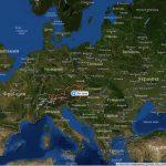 Австрия на карте Европы