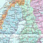 Физическая карта Финляндии