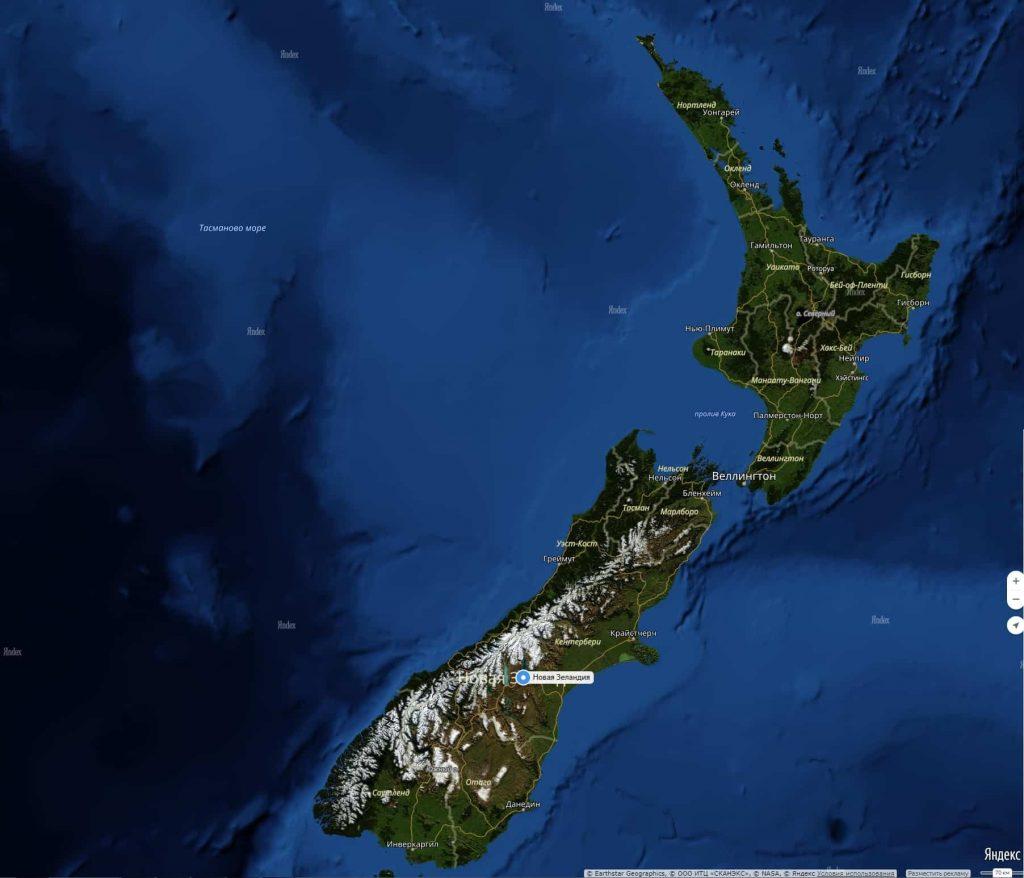 новая зеландия что посмотреть в первую очередь на карте ней всё время