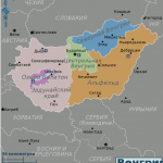 Карта Венгрии по регионам