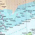 Физическая карта Йемена