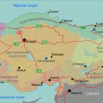 Карта Турции с административным делением