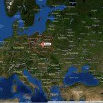 Польша на карте Европы