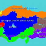 Региональное_деление_Турции на карте