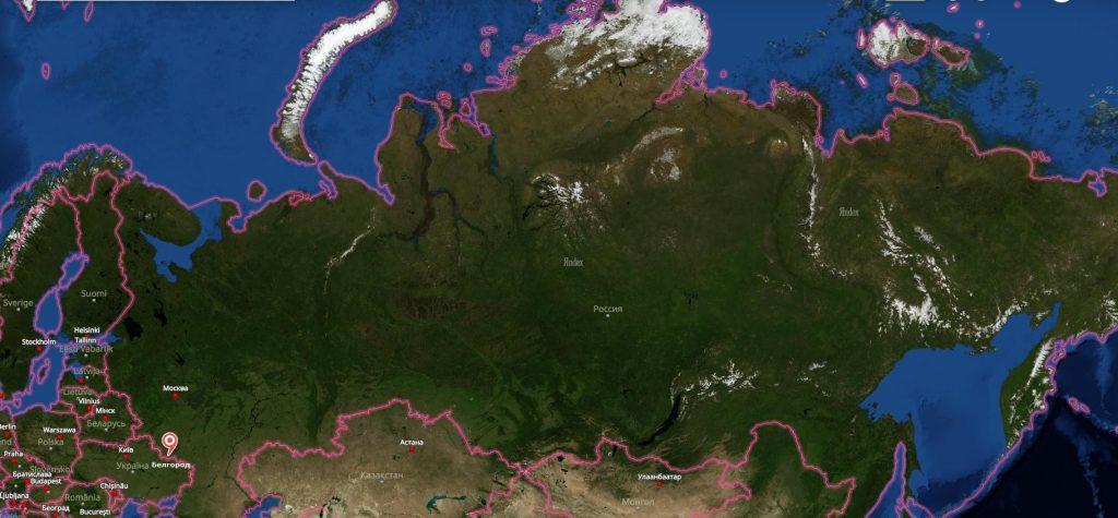 Белгород на карте России-min