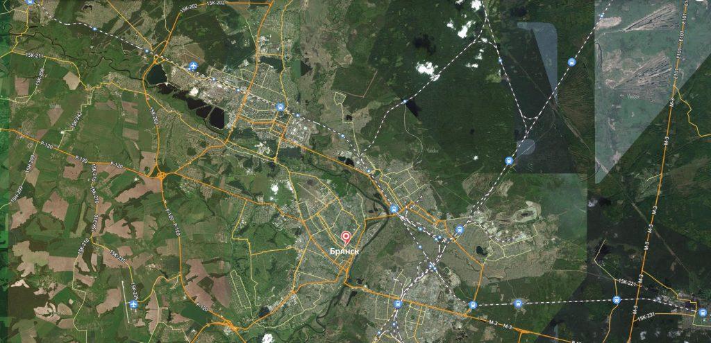 Маршруты на карте Брянска