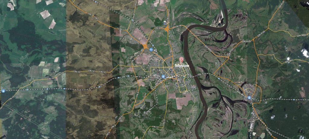 Карта города Муром с дорогами