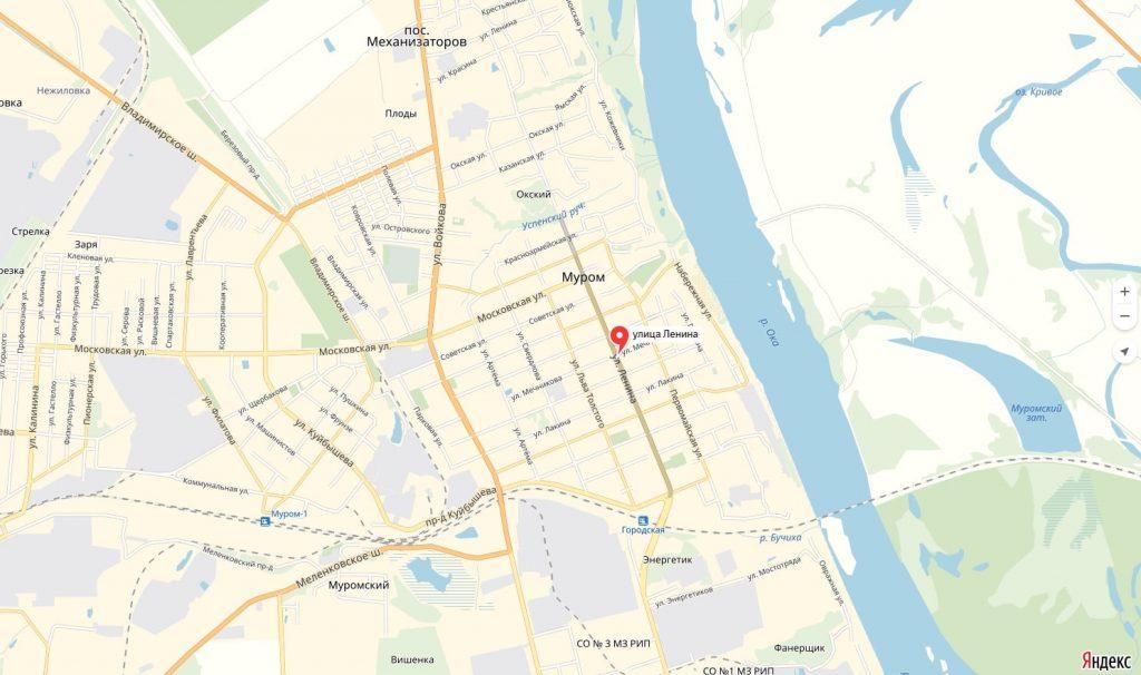 Карта Улицы Ленина Мурома