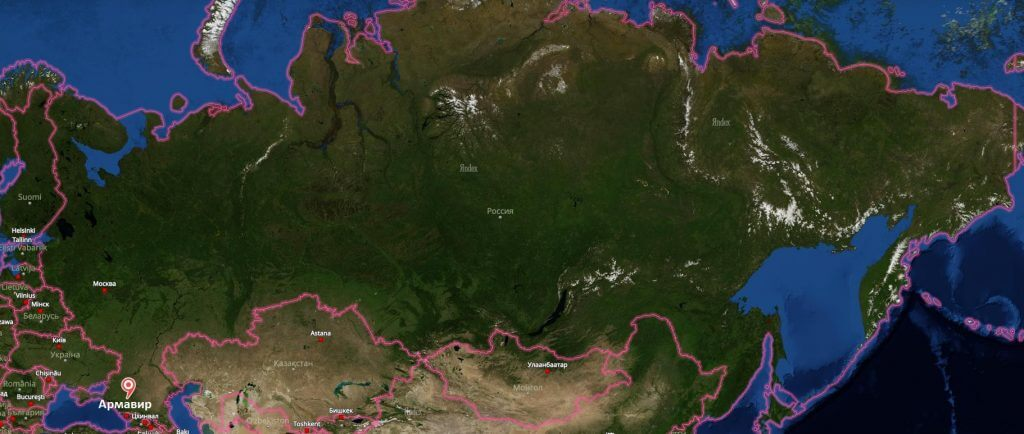 Армавир на карте России