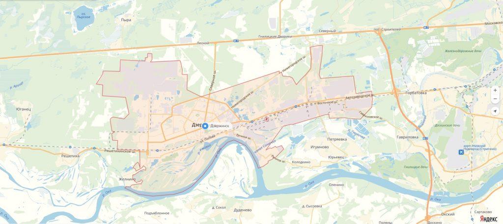 Характеристика города Дзержинск Нижегородская область