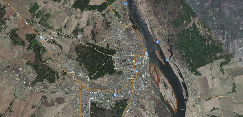 Маршруты на карте Сарапула транспортная инфраструктура-min