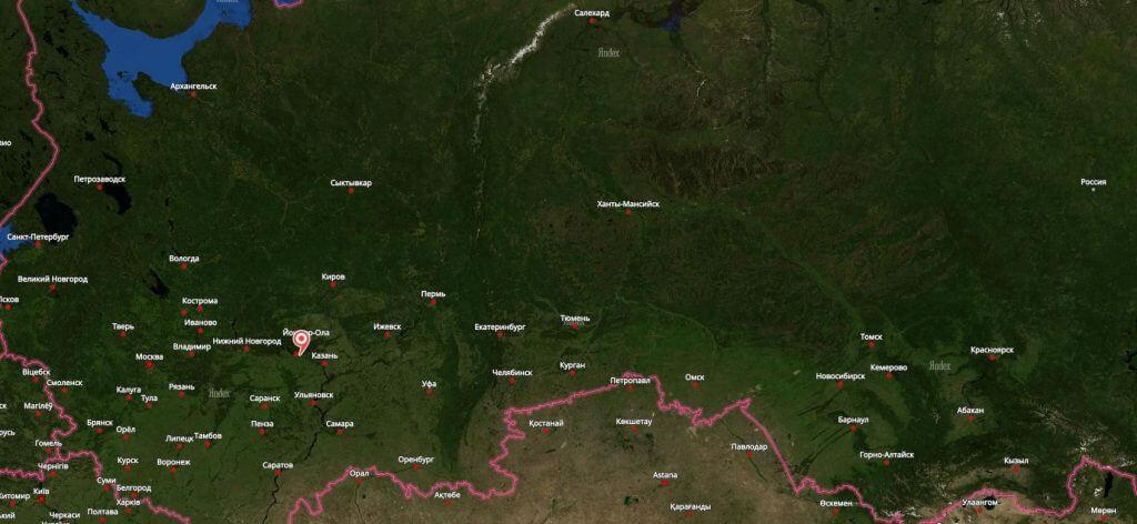 Новочебоксарск на карте России
