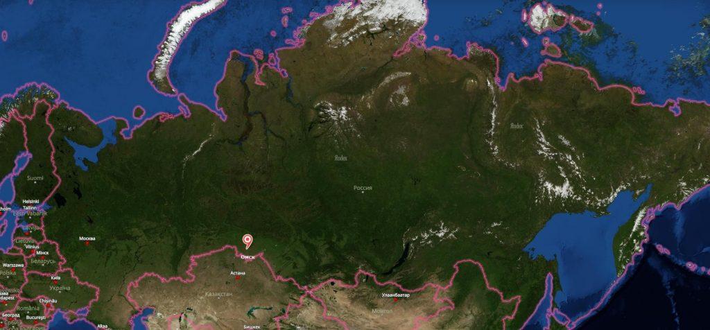 Омск на Карте России-min