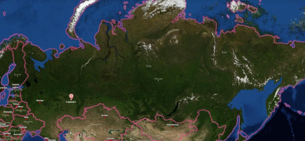 Сарапул на карте России-min