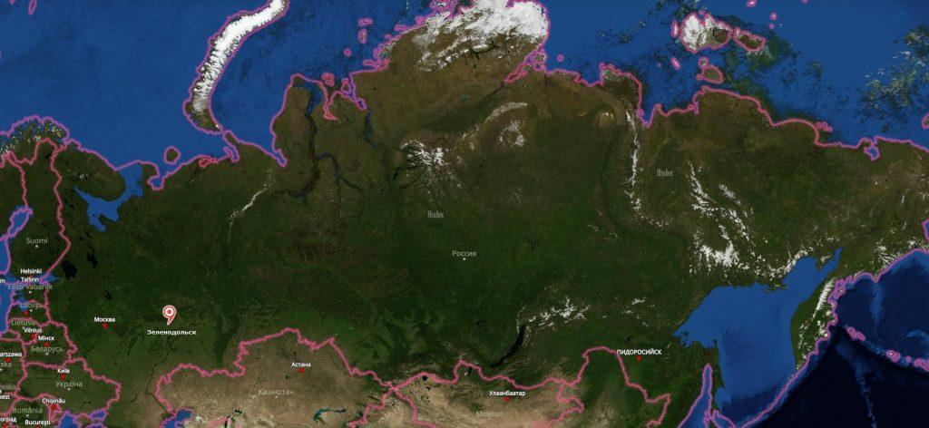 Зеленодольск на карте России