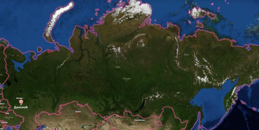Донской на карте России