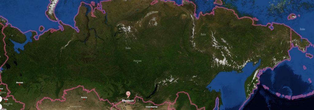 Кызыл на карте России