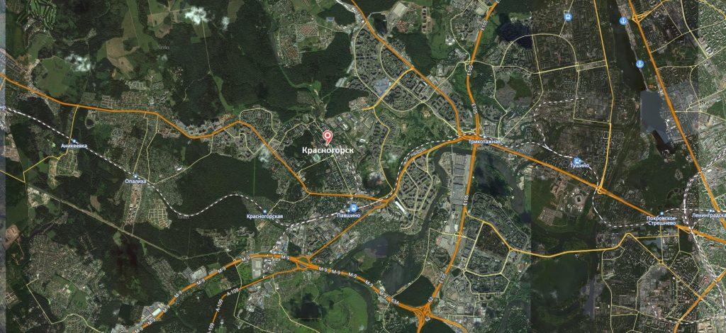 Маршруты на карте Красногорска
