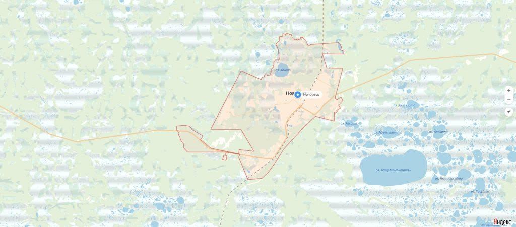 Карта Ноябрьска Ямало-Ненецкий автономный округ