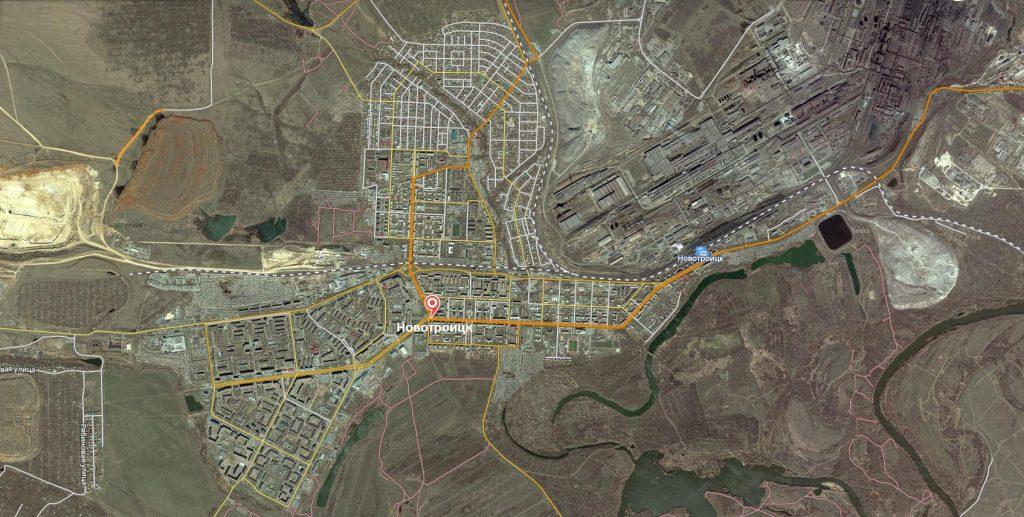 Маршруты на карте Новотроицка