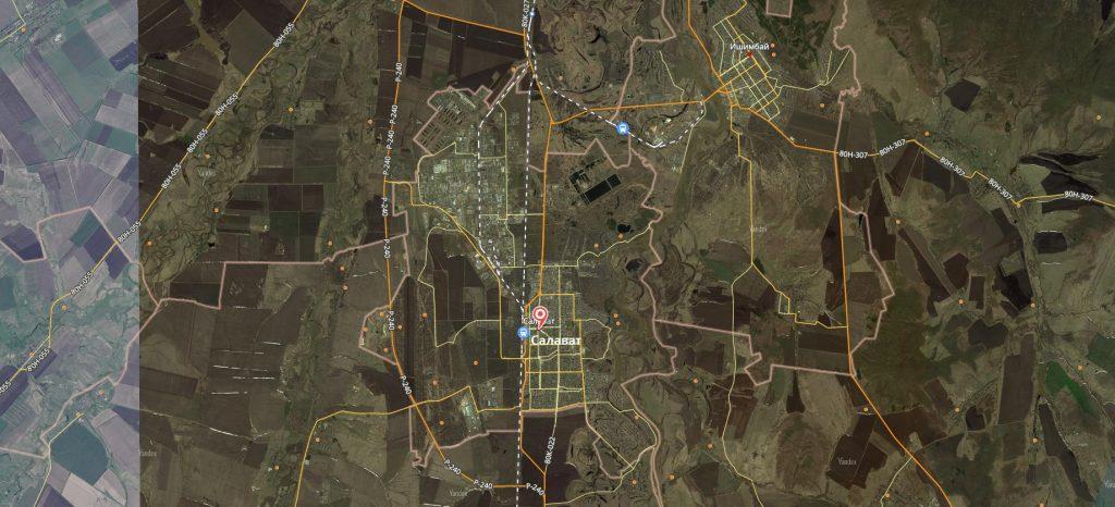 Маршруты на карте Салавата