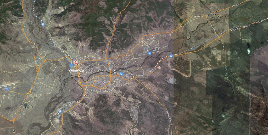 Маршруты на карте Улан-Удэ
