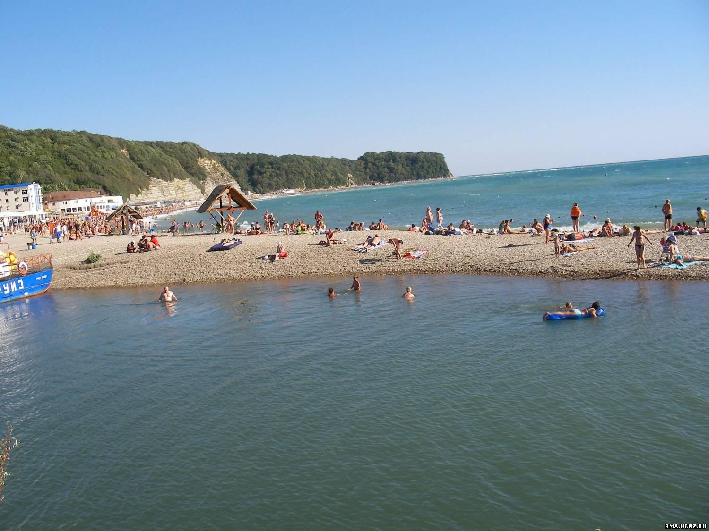 Новомихайловское фото пляжа и набережной 2018