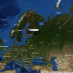Финляндия на карте Европы