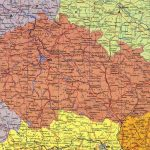 Физическая карта Чехии