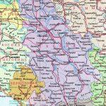 Физическая карта Сербии