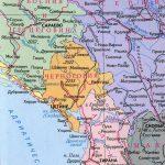 Физическая карта Черногории