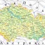 Карта Чешской республики