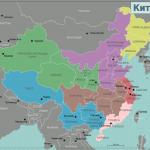 Карта Китая с административным делением