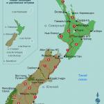 Карта Новой Зеландии с административным делением