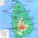 физическая карта Шри-Ланки