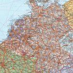Физическая карта Германии