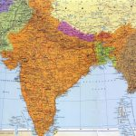 Физическая карта Индии-min