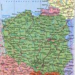 Физическая карта Польши