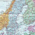 Физическая карта Швеции