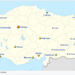 Города Турции с населением на карте