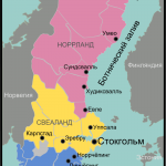 карта Швеции по регионам