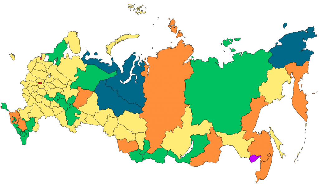 Карта россии на глобусе