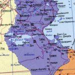 джерба на карте туниса на русском языке