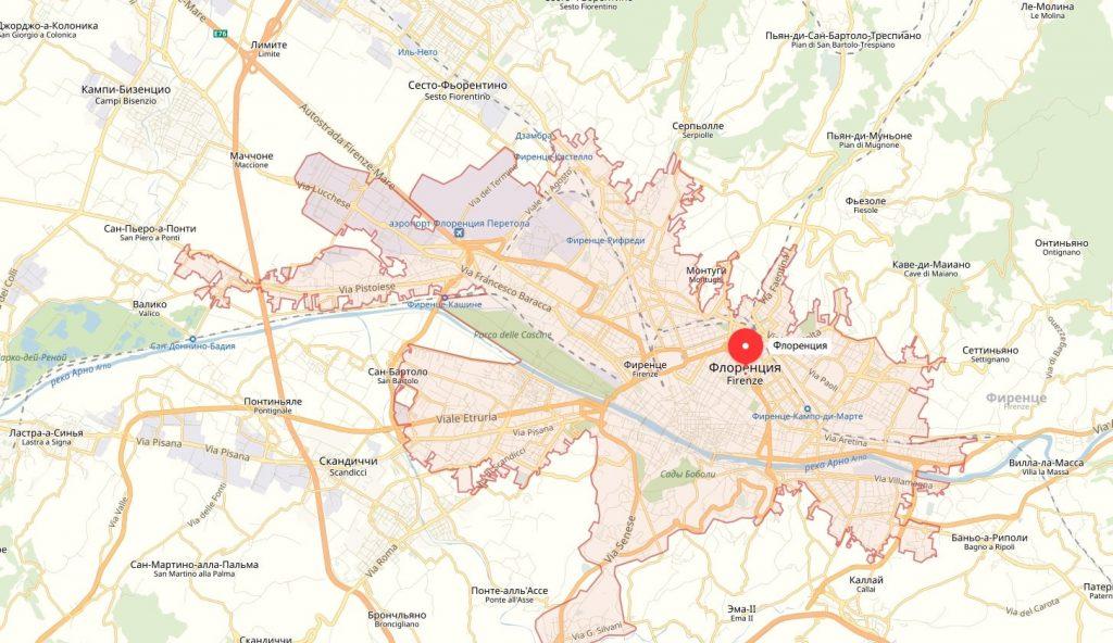 Карта Флоренции. Общие сведения о городе