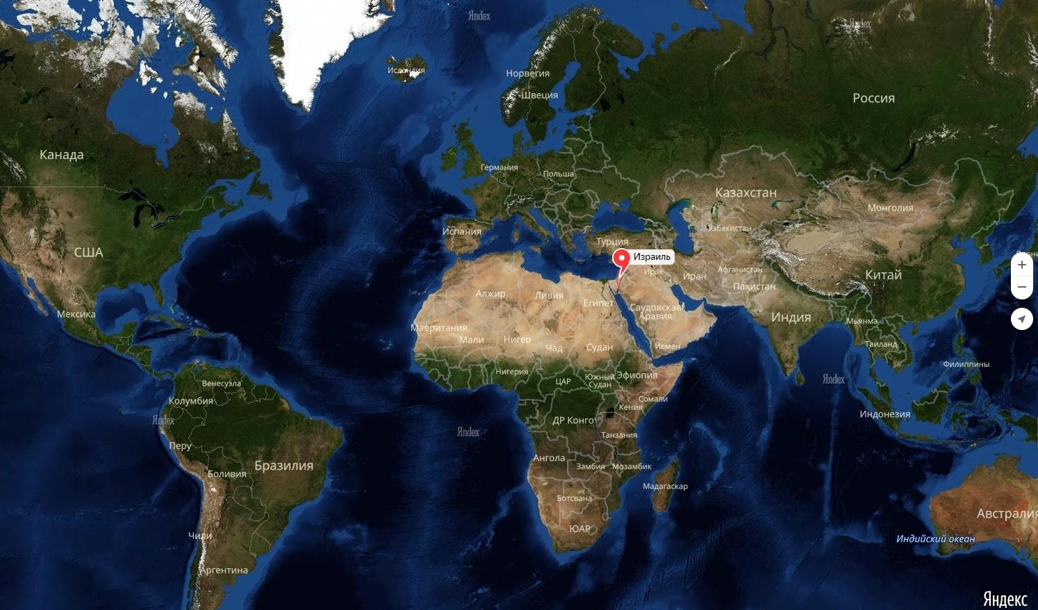 фото израиль на карте мира